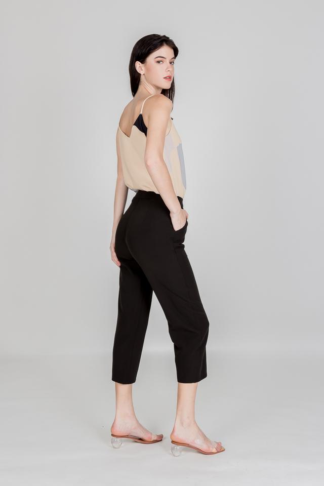 JOE MID WAIST PANTS (BLACK)