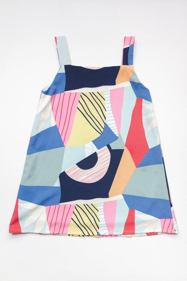 LITTLE KALA REVERSIBLE DRESS (BLUE)