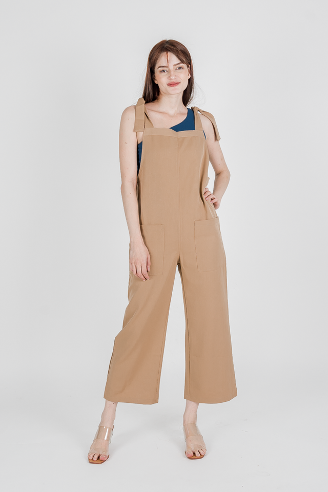 KYLIE KNOTTED DUNGAREE (CAMEL)