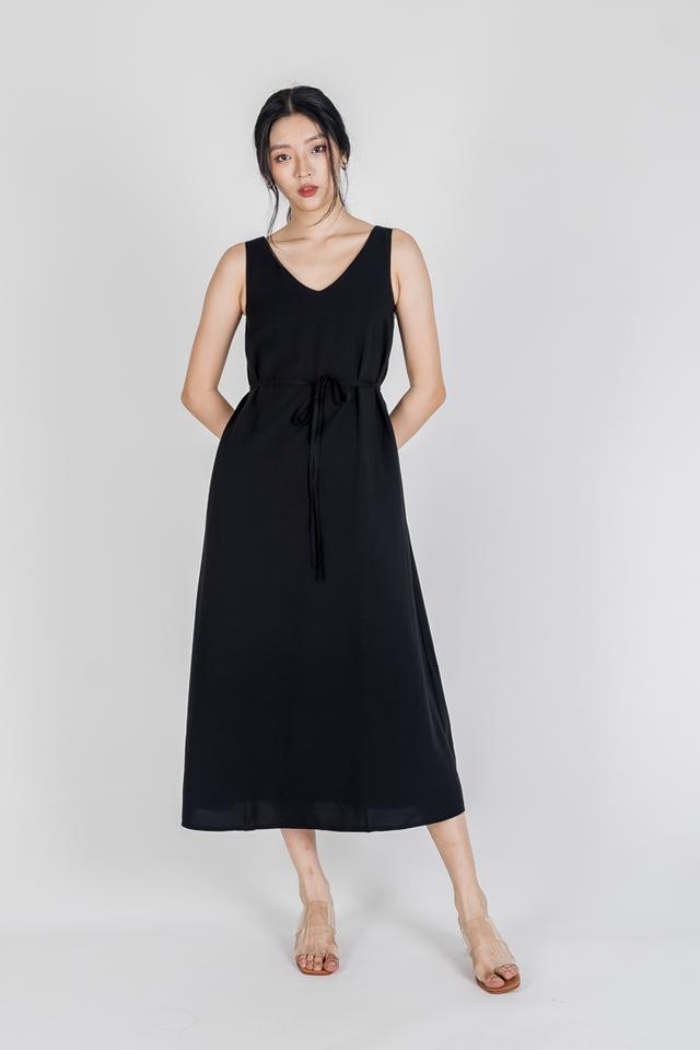 TALIA TWO WAY NECKLINE MAXI DRESS (BLACK)