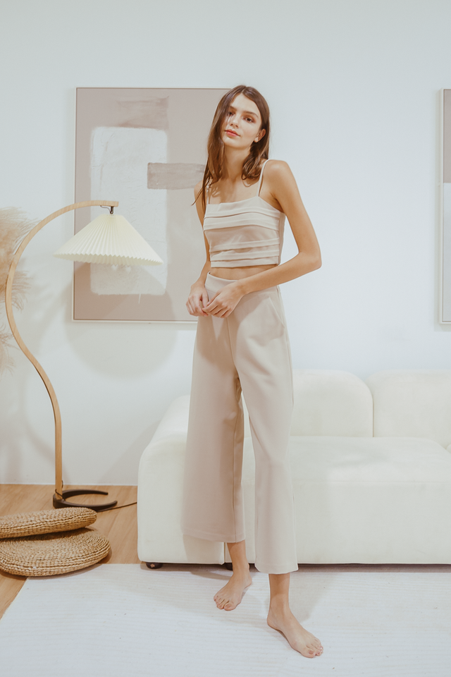 ELE WIDE LEG PANTS (ECRU)