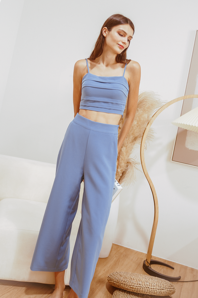 ELE WIDE LEG PANTS (CORNFLOWER BLUE)