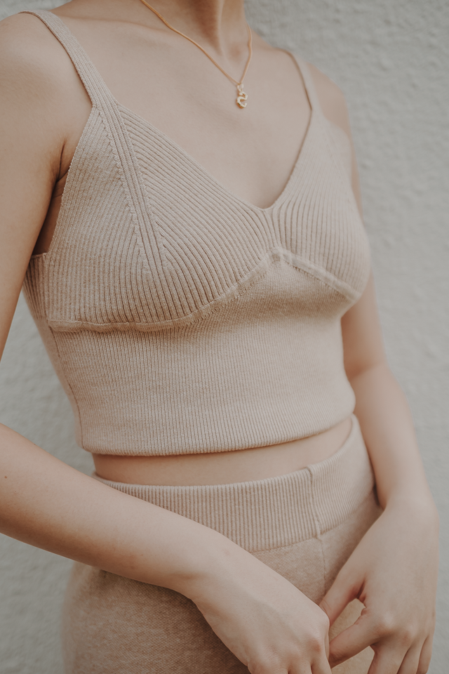 THEA KNIT CAMISOLE TOP (OAT)